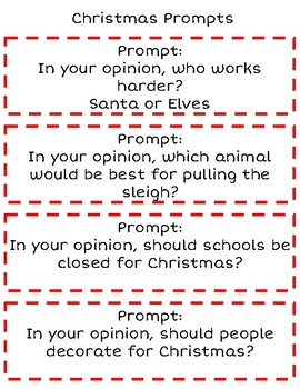 Writing Christmas Prompts