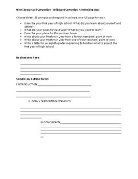 9th grade essay prompts