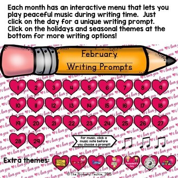 Writing Prompts ALL YEAR