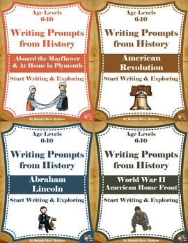 Writing Prompts About American History Bundle (Ages 6-10)