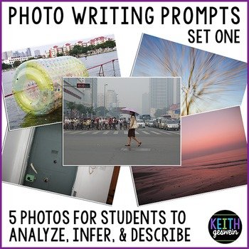 Photo Writing Prompts: Analyze, Infer, and Describe 5 Photos