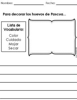 Writing Prompts April (Spanish Version) Elementary