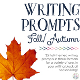 Writing Prompts: Fall/Autumn