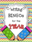 Monthly Journal Writing Prompts for the Year -- BINGO Style!
