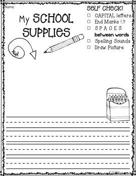 Kindergarten Writing Prompts: BUNDLED