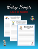 Writing Prompts - Back to School (Print + Digital Activity)
