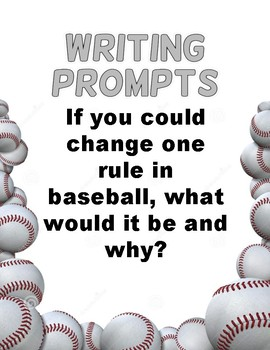 Writing Prompts: Baseball