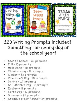 Writing Prompts Bundle (3rd-5th)