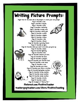 Writing Prompts Bundle - 52 Different Writing Picture Prompts - Bundled