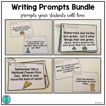 Writing Prompts Bundle (A whole year of Writing Prompts!)