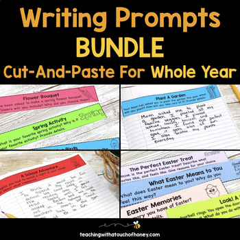 Writing Prompts Bundle: Cut-And-Paste Prompts For The Year