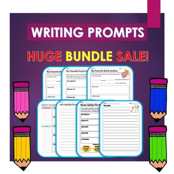 Writing Prompts Bundle: Weekly Paragraph Writing and More!