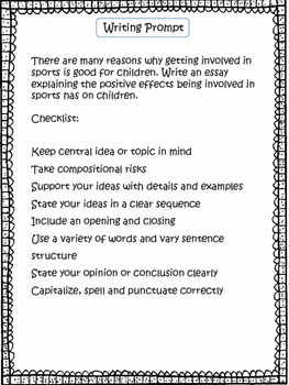 Writing Prompts Bundle Grades 3-5