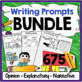 Writing Prompts Bundle {Narrative, Informative & Opinion Writing}