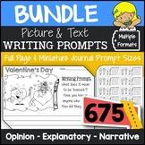 Writing Prompts Bundle {Narrative, Informative & Opinion Writing}
