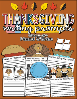 Writing Prompts Bundle: Thanksgiving, Winter, Valentine's Day, & Halloween