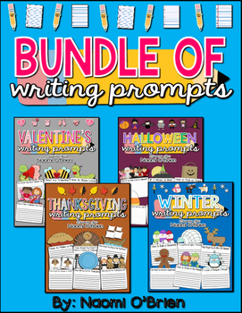 Writing Prompts Bundle: Thanksgiving, Winter, Valentine's