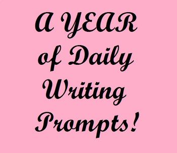 Writing Prompts Calendar