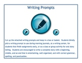 Writing Prompts, Catchy Story Starters
