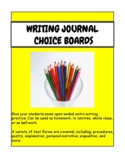 Writing Prompt Choice Boards - FULL YEAR- For Homework or
