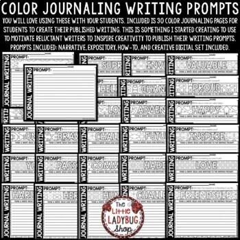 Writing Prompts - 3rd Grade, 4th Grade & 5th Grade