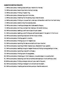 ELA WRITING 84 Prompts: Descriptive, Expository, Narrative, & Persuasive