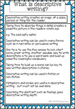 Writing Prompts - Descriptive Writing