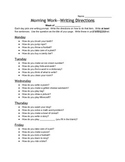 Writing Prompts (Directions, How to.., Explain, Narrative)