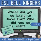 Writing Prompts - ESL Level 1