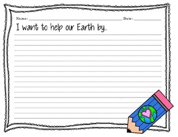"Writing Prompts ""Earth Day"""