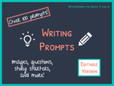 Writing Prompts: Editable PowerPoint