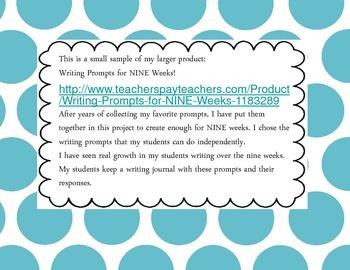 Writing Prompts- FREEBIE!