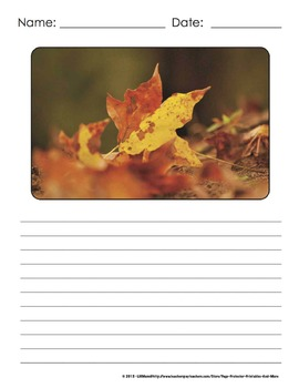 Photo Writing Prompts Fall