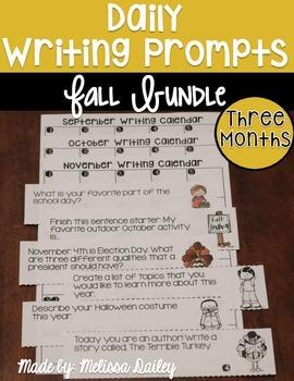 Writing Prompts Fall Bundle {September, October, November}