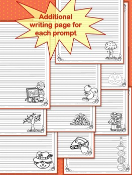 Writing Prompts:  Fall Draw & Write!  No Prep for 1st or 2nd