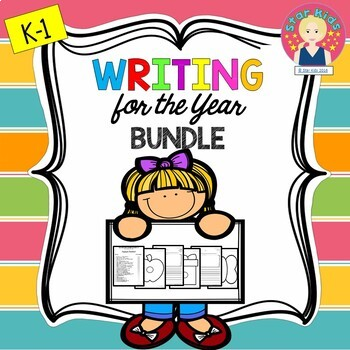Graphic Organizers and Writing Templates for the Year for K-1
