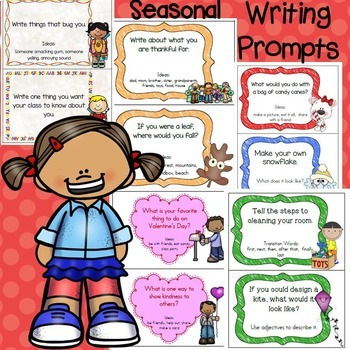 Writing Prompts Bundle- Back to School, Fall, Winter, Spri