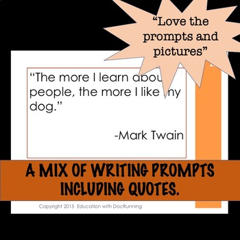 Writing Prompts for Autumn for 6th through 12th grade