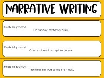 Writing Prompts Fan {Common Core}