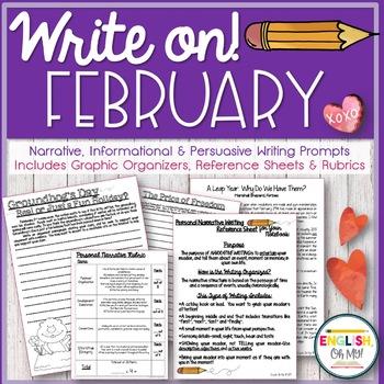 Writing Prompts {February}-Persuasive, Informational, Narrative