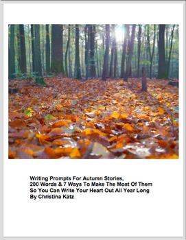 Writing Prompts For Seasonal Stories: Half Price Bundle Of