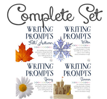 Writing Prompts: Four Seasons {Complete Set}