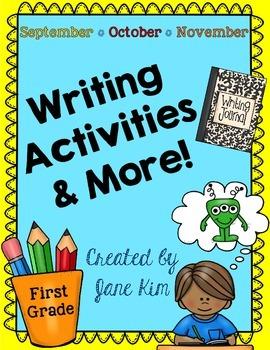 Writing Activities and More: September, October, & November~K to Grade 1