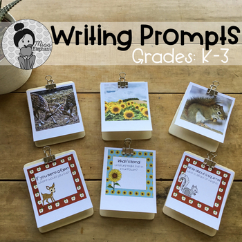 Writing Prompts Grade 1, Grade 2, Grade 3 (All Year - 100 themes)