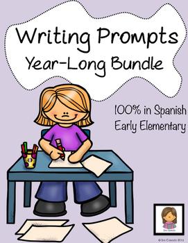 Spanish Writing Prompts Year Long Bundle