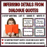 Writing Prompts: Inferring Details from Dialogue Quotes (5