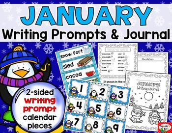 Writing Prompts: January Calendar & Journal