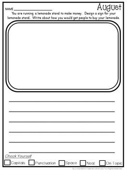 Writing Prompts Journal Kindergarten - 3rd Grade  FREEBIE