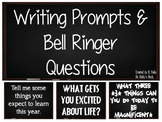 Writing Prompts, Journal Writing, Bell Ringers & Interactive Notebook Prompts