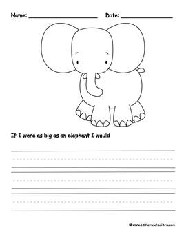 Writing Prompts - Jungle Animals {Kindergarten & 1st Grade)